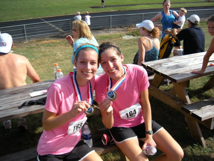 August 2010 - Very first Half Marathon in Illinois with my sister Ivana.