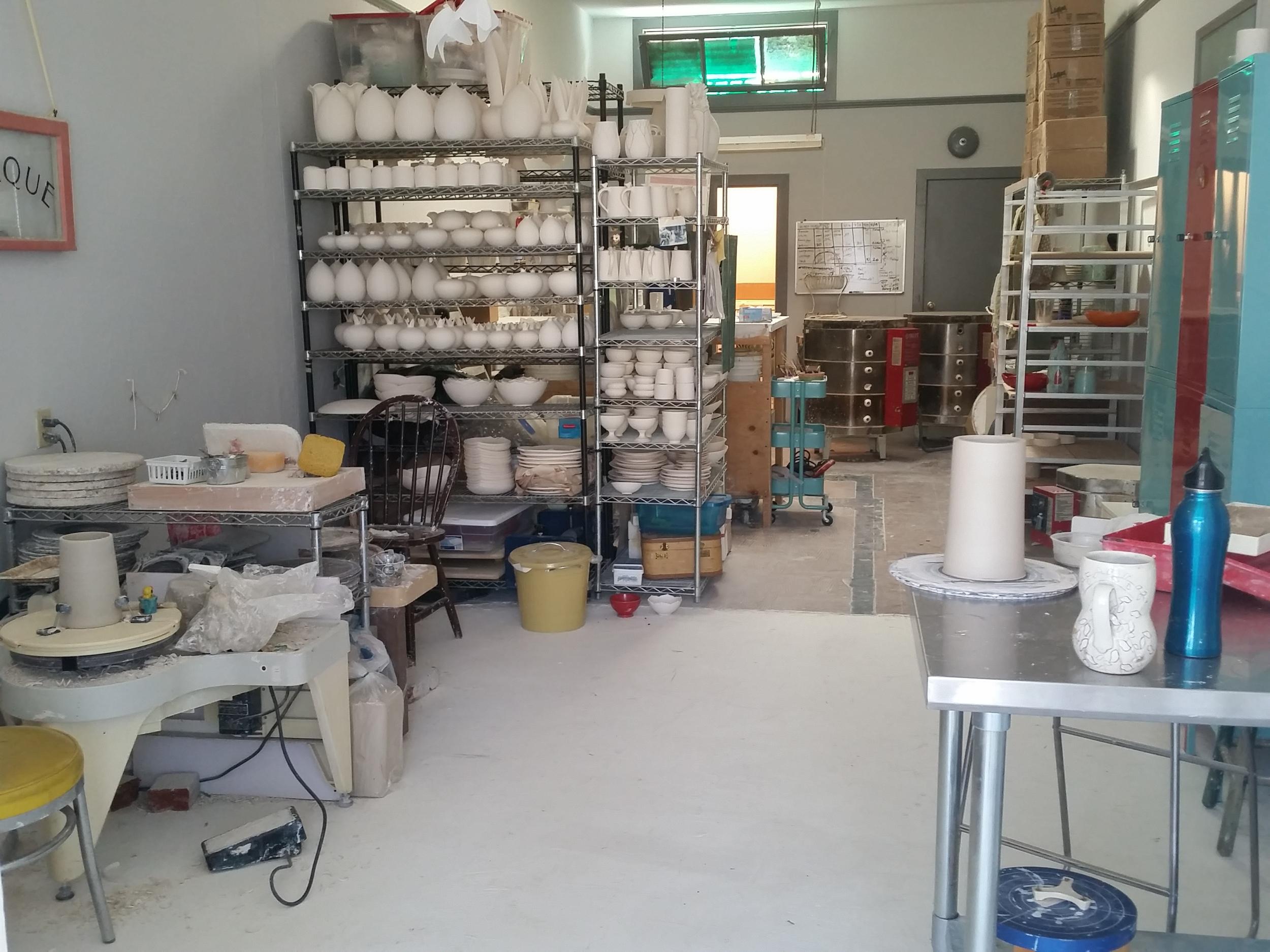 My sister's ceramic studio.