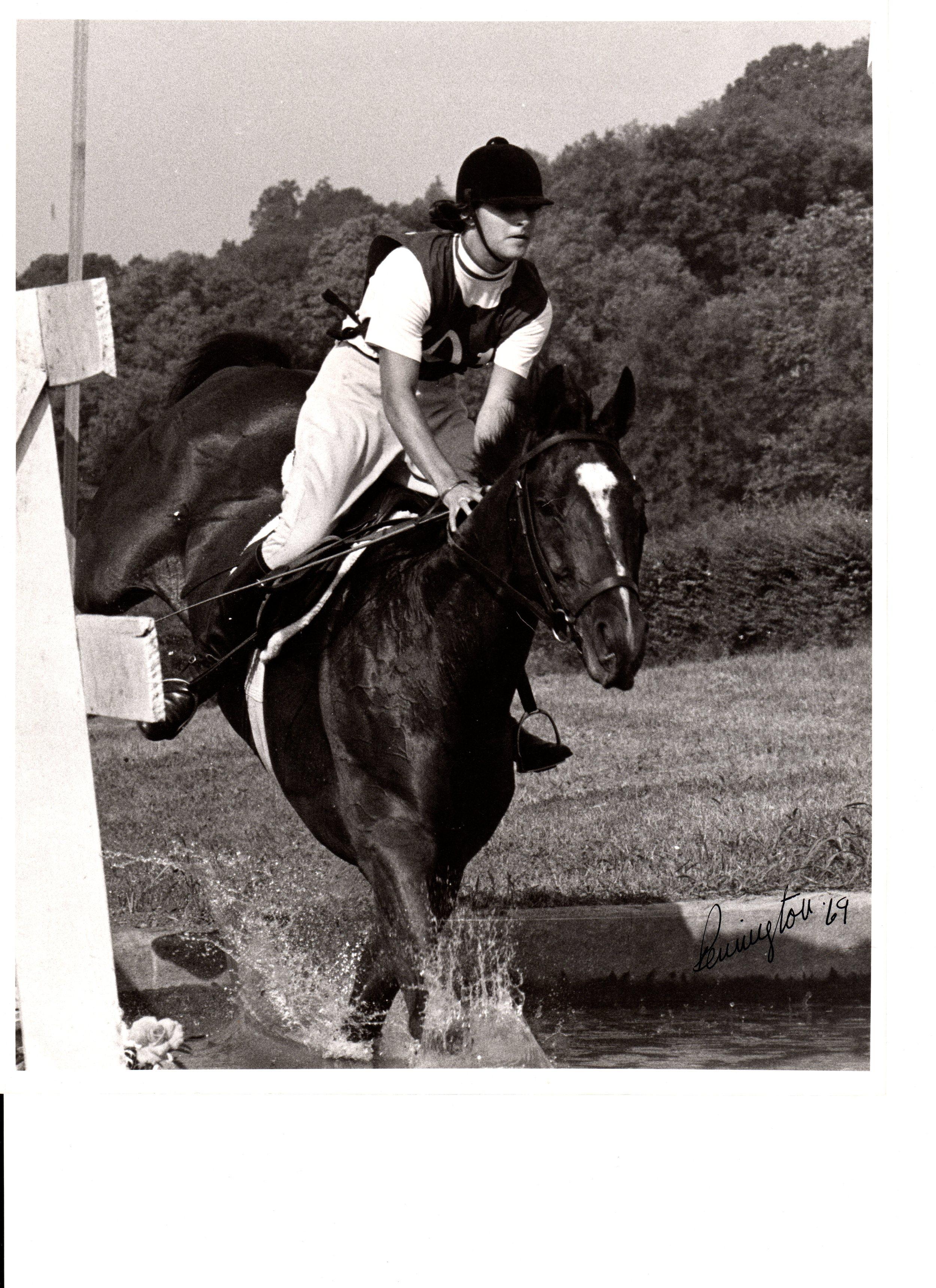 "on General Burton's horse, Bold Lur, ""A"" National Pony Club Rally, Nashville, TN, 1969"