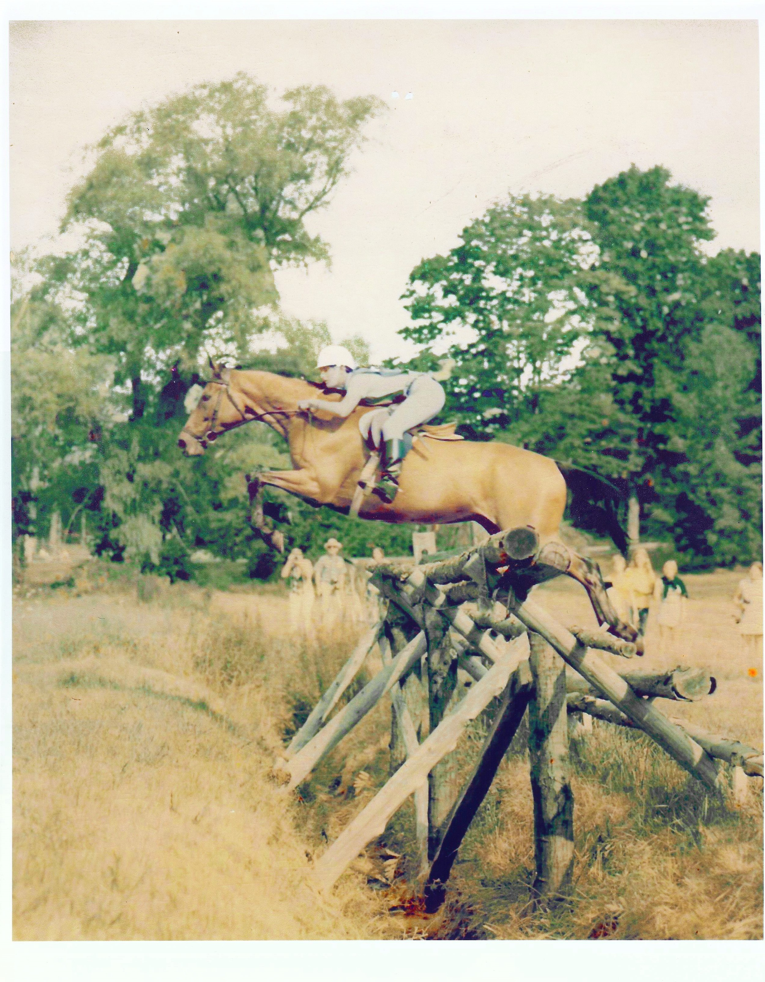 """Riding General Wing's horse Fleet Thing, 1972, """"A"""" National USPC Rally, Ledyard, MA?"""