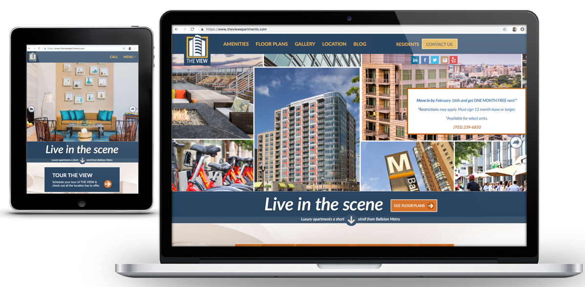 Drupal - Redesign for The View At Liberty Center Apartments