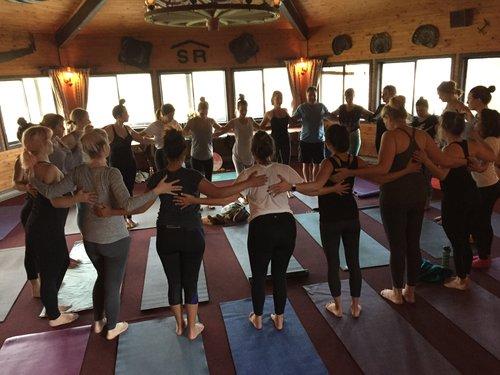 Sundance Ranch Soulful Entrepreneur Retreat group yoga