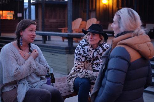 Sundance Ranch Soulful Entrepreneur Retreat bonfire chats