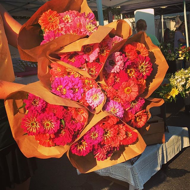 The sun is shining and the Arlington Farmers Market is Blooming!! @arlfoodworks @communityfoodworks #farmersmarket #farmersmarketweek #supportlocal #farmers #flowers #sunshine