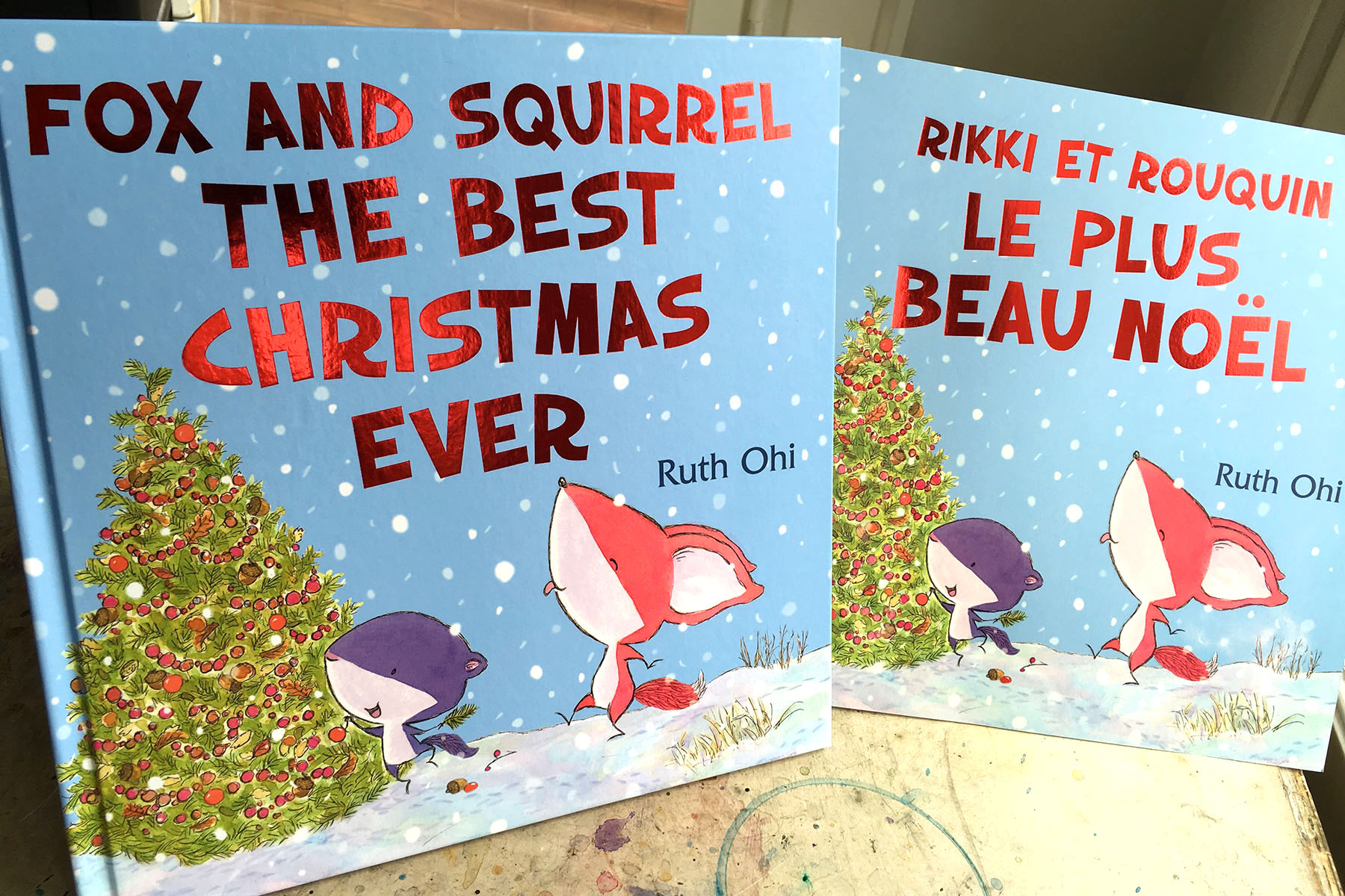 Love the shiny! Thank you, Scholastic Canada for the red foil lettering on the Hardcover and French Softcover editions. <3