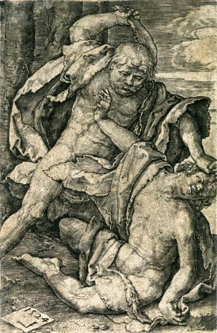 Lucas Van Leyden (1494-1553),1524, engraving, 117 x 25 mm, Metropolitan Museum of Art, NY, New York