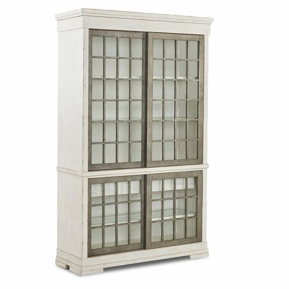 Nebraska Furniture Mart Trisha Yearwood Home Collection Coming Home Affection Display Cabinet in Chalk, found  here