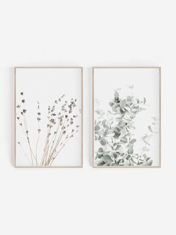 HEARTSinCOLORS Lavender and Eucalyptus prints, set of 2, found  here