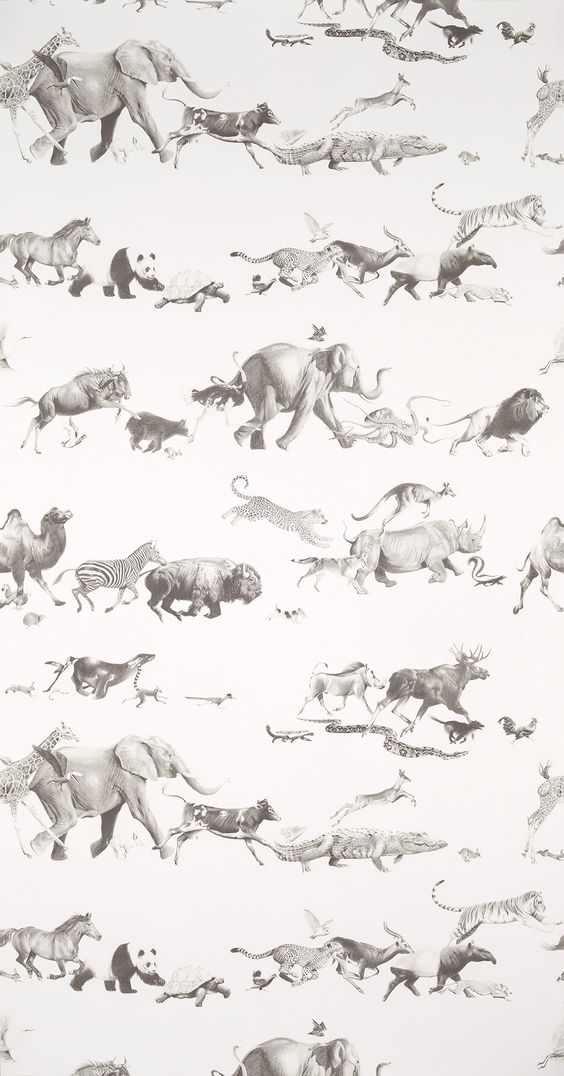 Beware the Moon Animals Wallpaper, found  here
