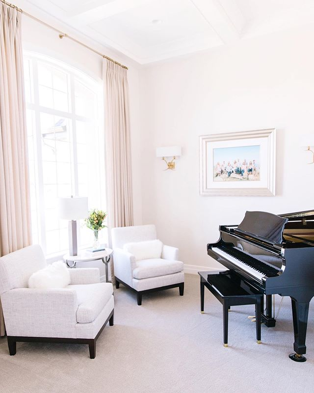 Happy Friday! Sharing one more photo from our Highland project - the piano room! This is the first space you see walking into the client's home and they wanted a clean, elegant feeling for the room.