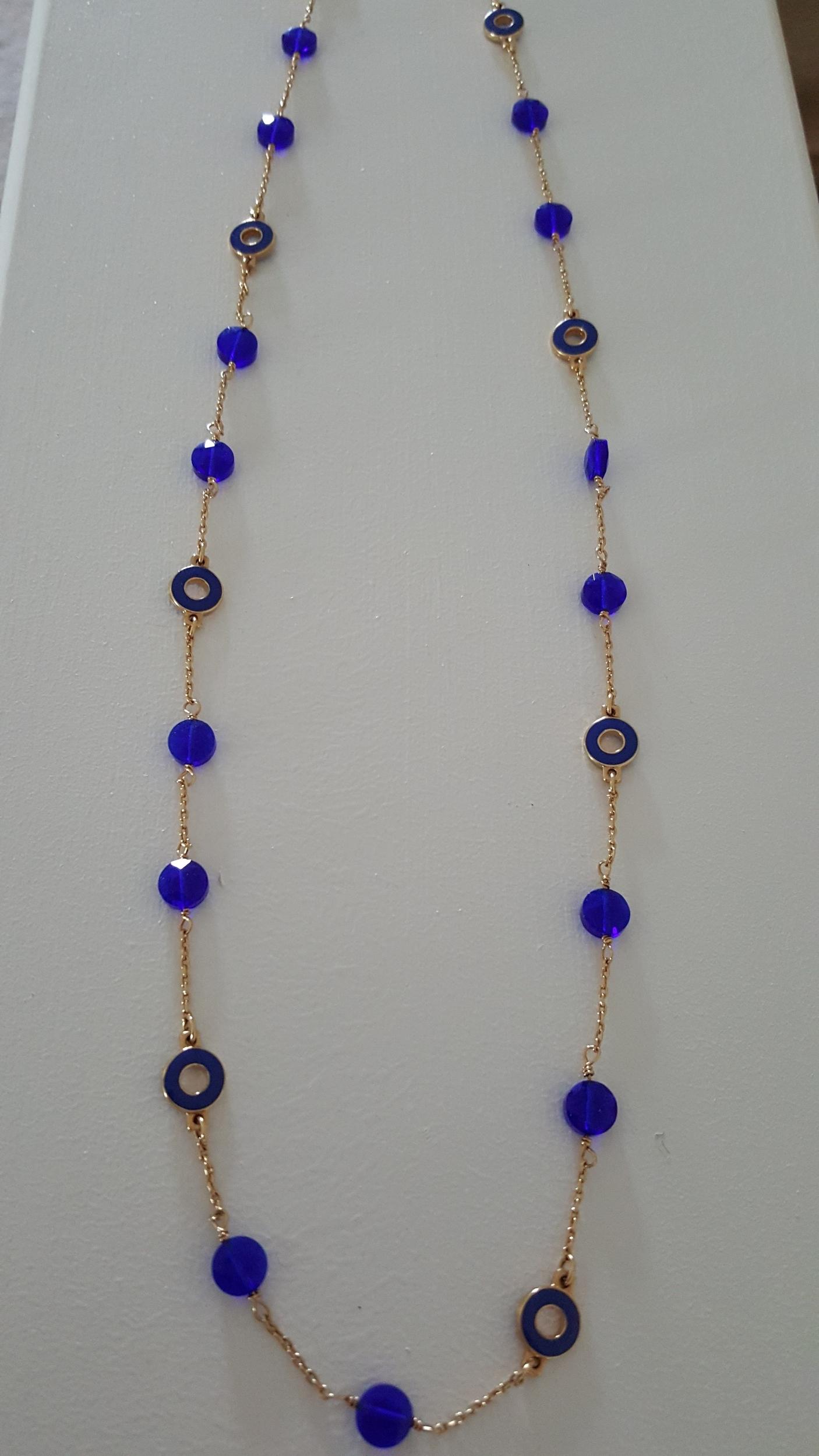 Blue JCREW Necklace