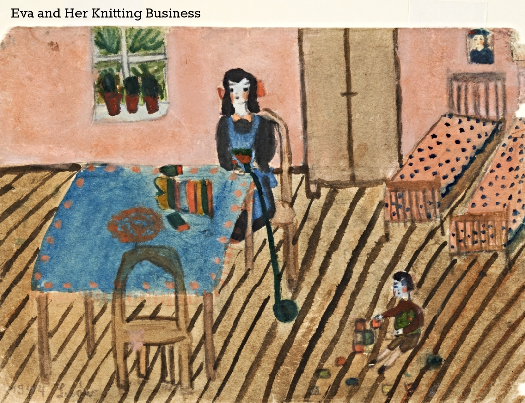 Eva and Her Knitting Business