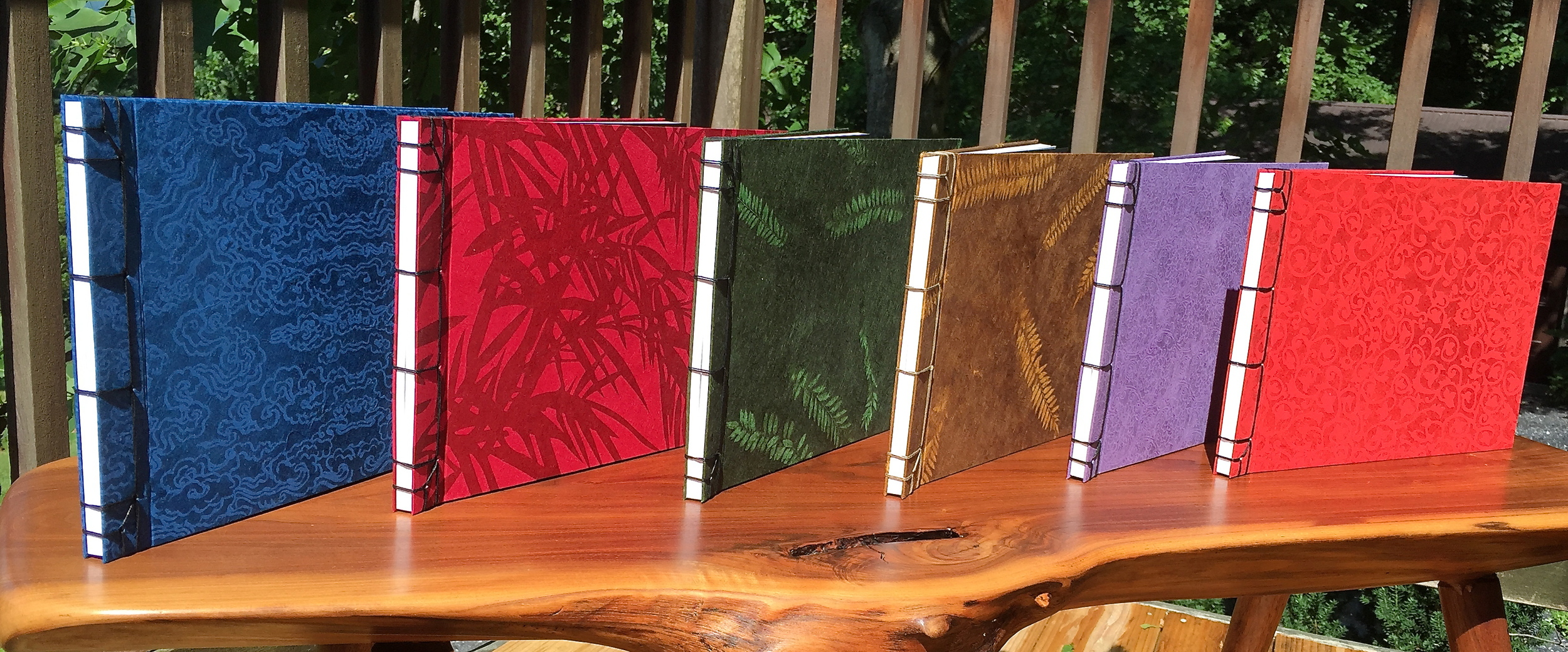 A new line of Guest Books from the Press, featuring handmade Nepalese papers.