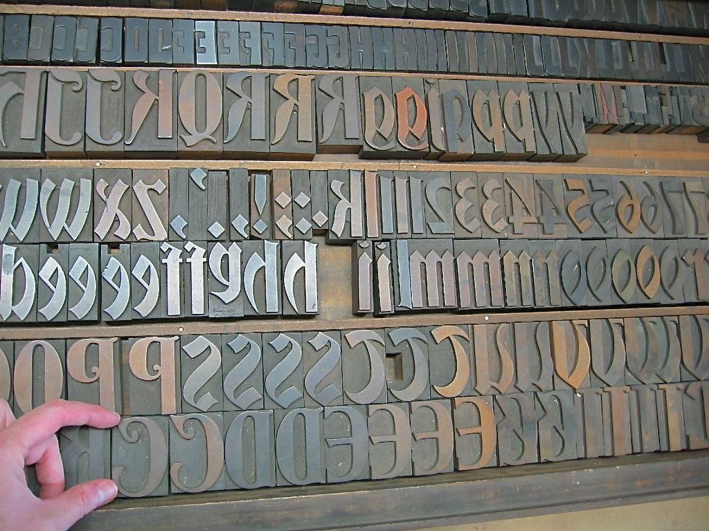 """A fabulous wood type called """"Bradley"""" that we are glad to care for and print with here at the Press."""