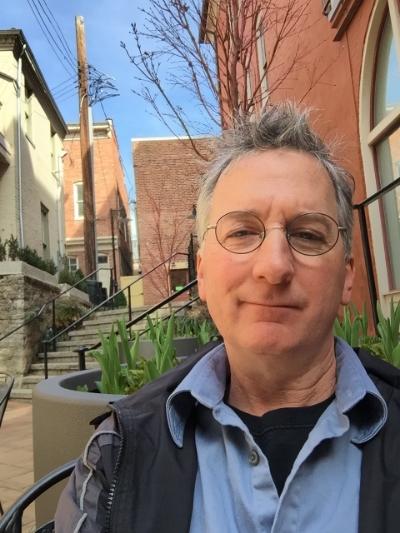 Poet, publisher, and translator Jeff Schwaner, in his native habitat (Staunton, Virginia)
