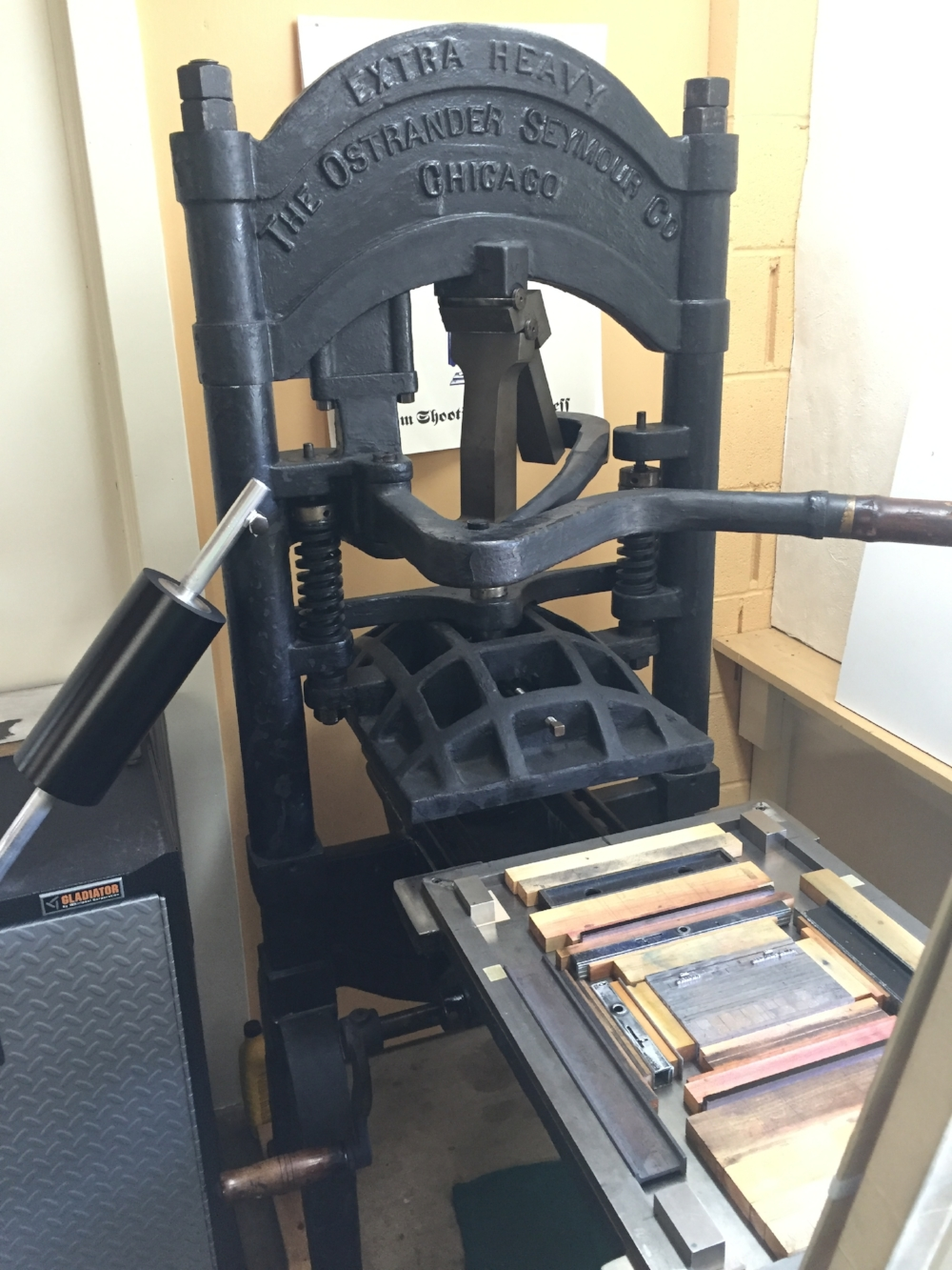 Printing the book on our circa-1915 Ostrander-Seymour iron handpress