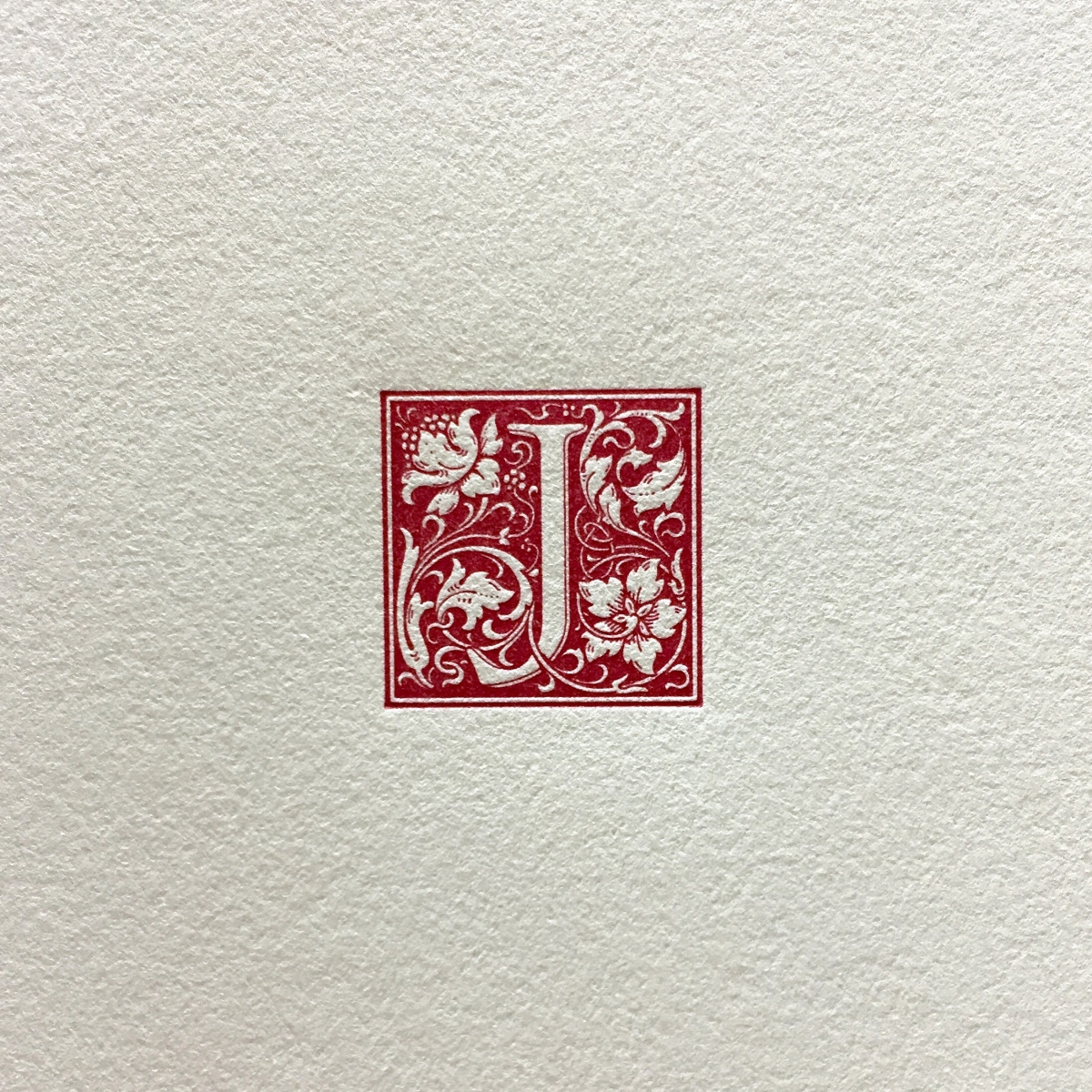 Beautiful details of Goudy's initials