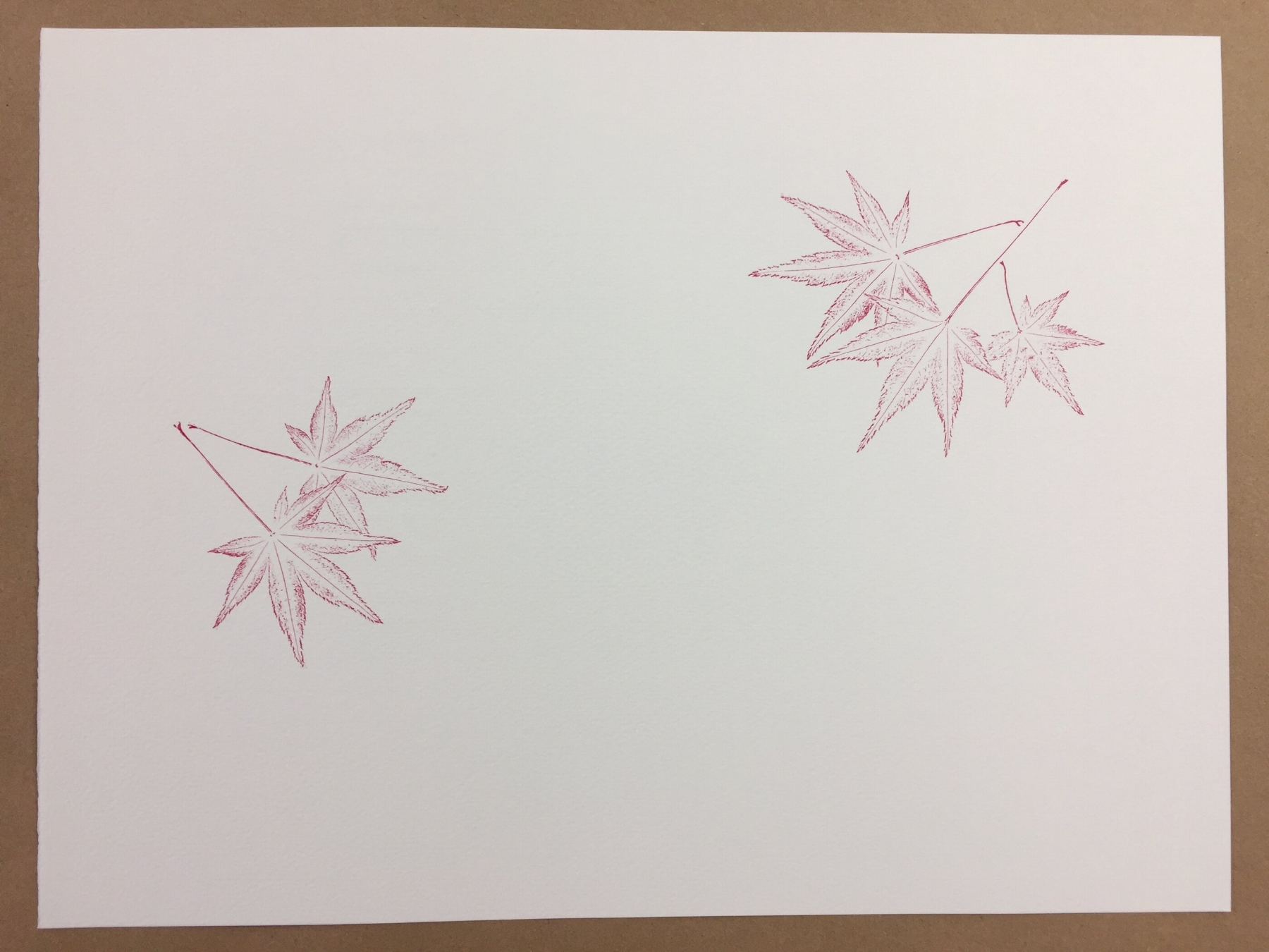 And voila! A page with lovely Japanese maple leaf prints.