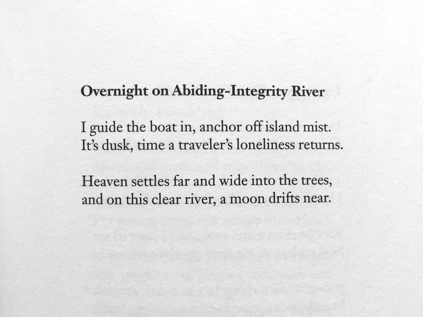 The poem: a transporting little poem by Meng Hao-jan that's been resonating since the 8th century.
