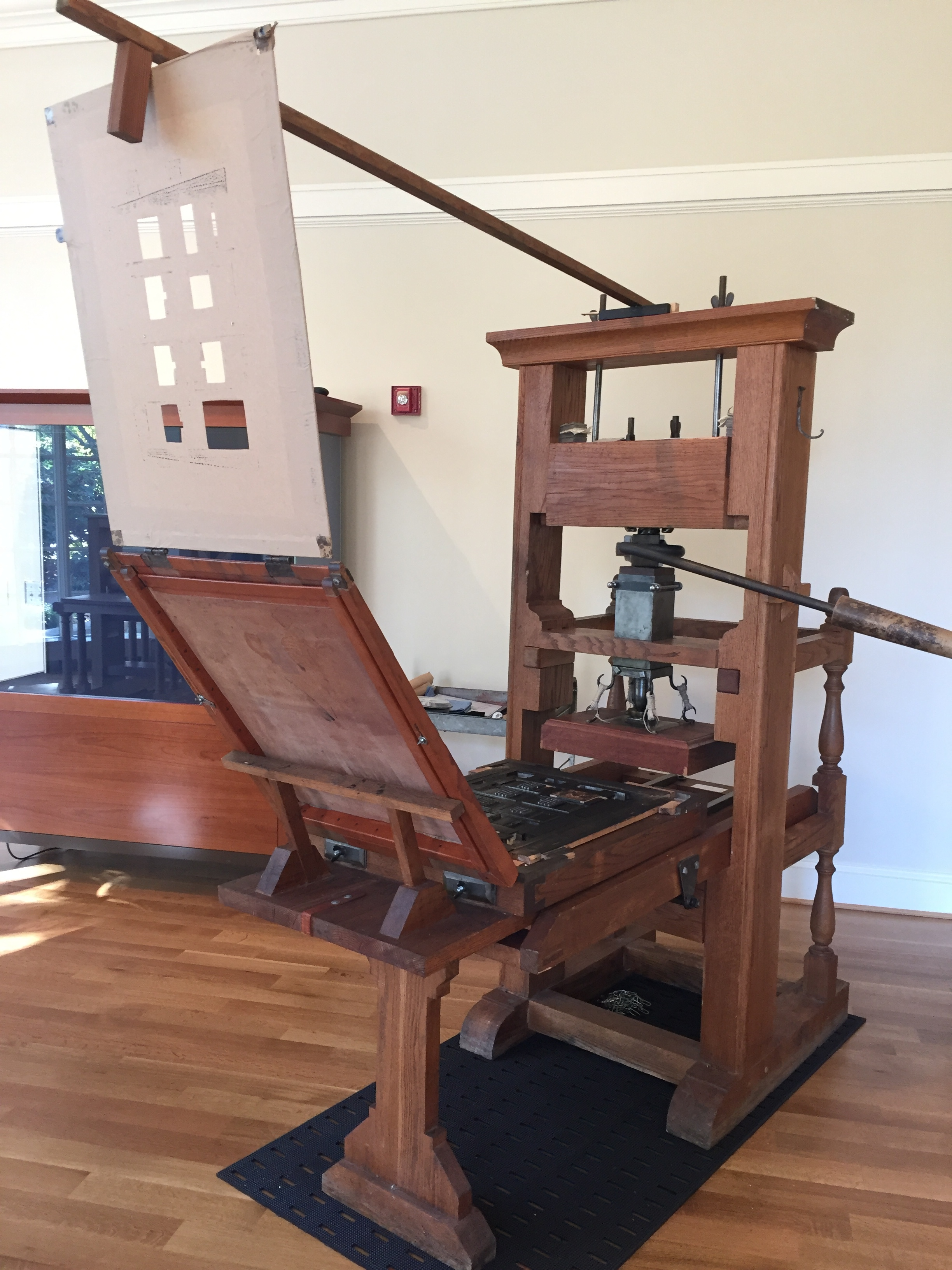 The common press at the University of Virginia.