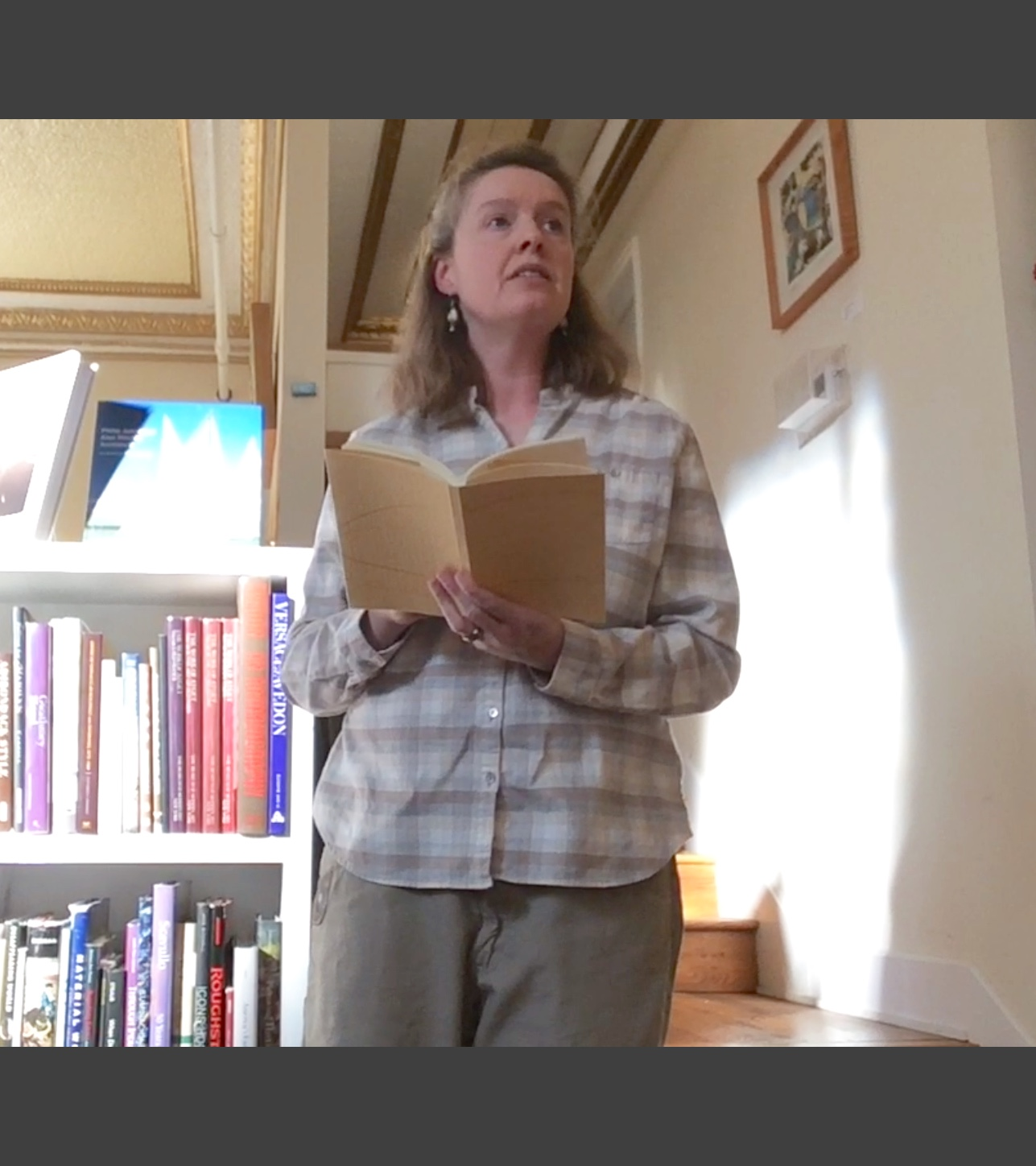 Poet Emily Hancock reading from  The Open Gate  at the book launch. 12/3/17
