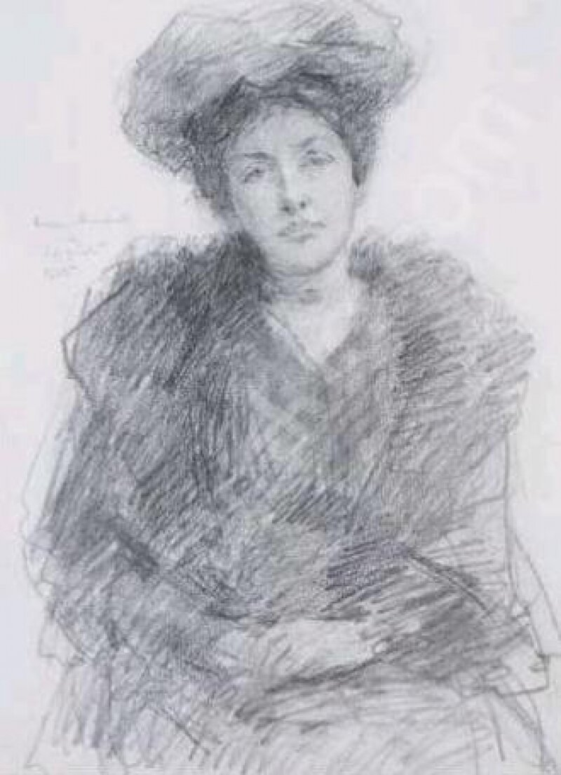 24 Elizabeth Yeats, by brother or father? John Yeats.jpg