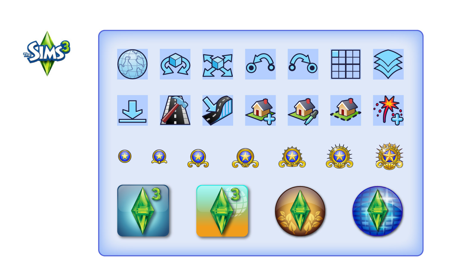Icons for EA Games' Sims3