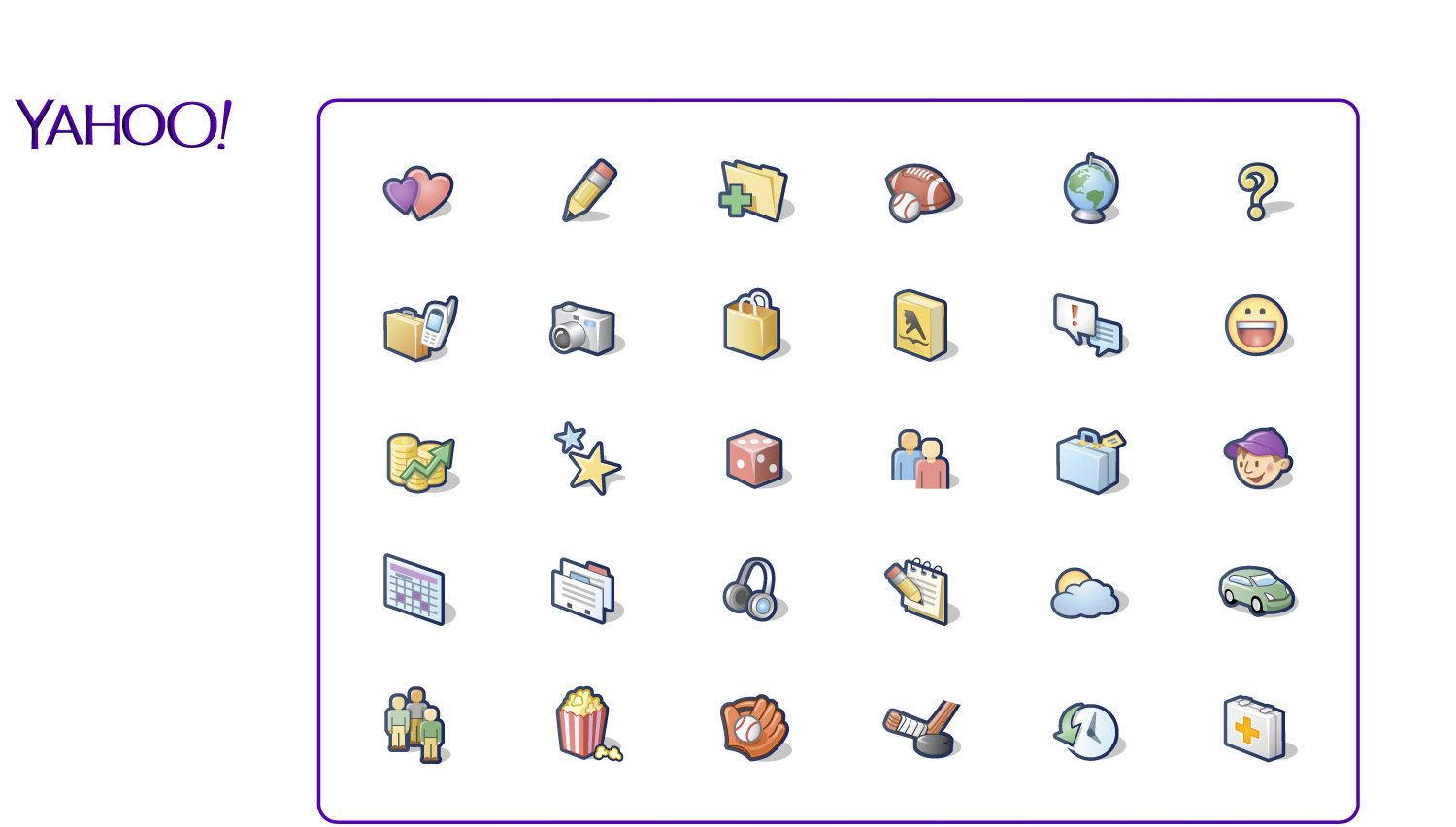Icons for Yahoo!