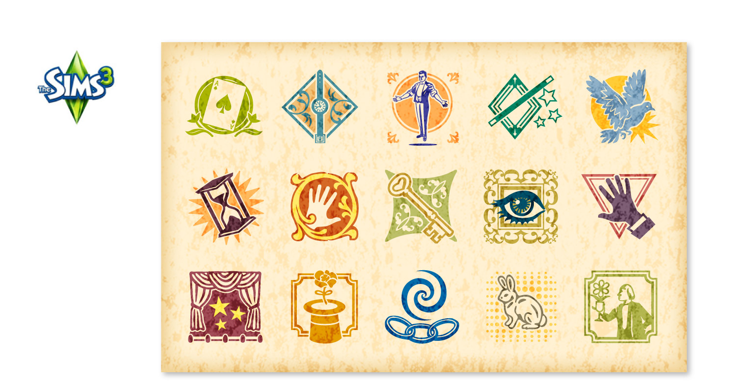 Magician Stamps for EA Games' Sims3