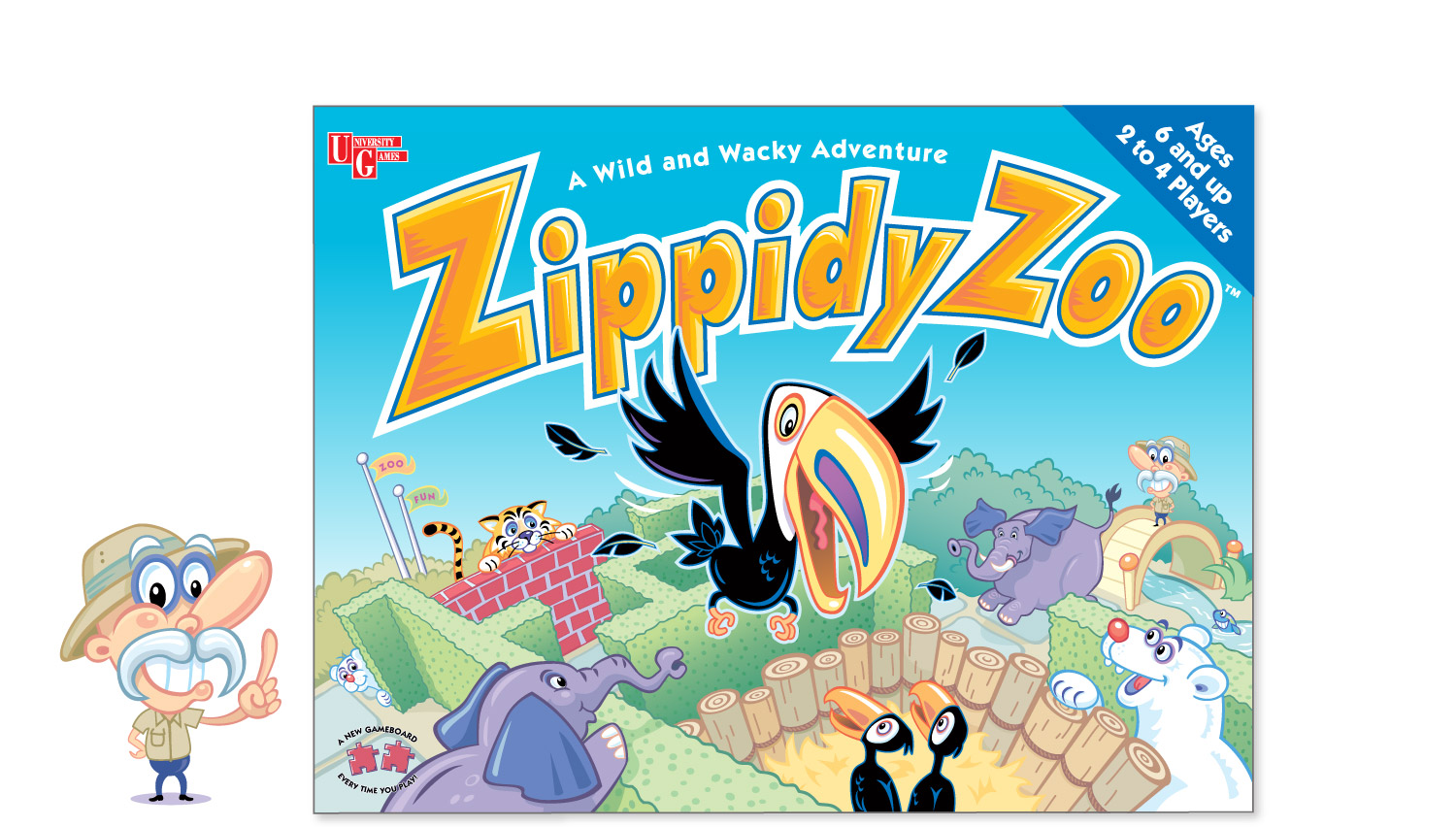"""Zippidy Zoo"" game for University Games"