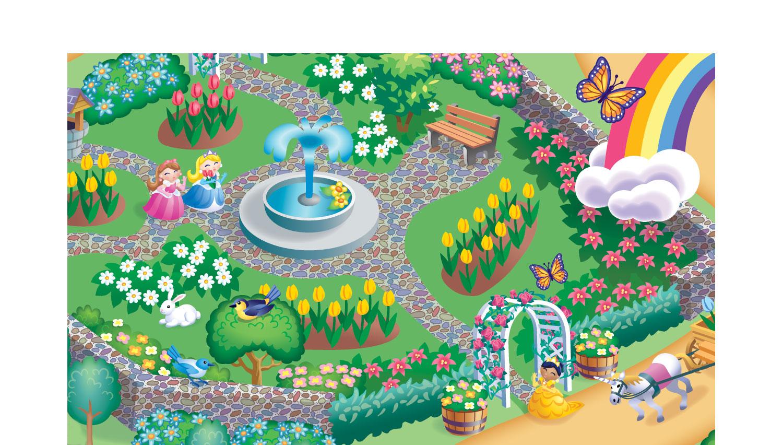 """Princess Smart Mat"" (detail), a kid's play mat for PlaSmart Toys"