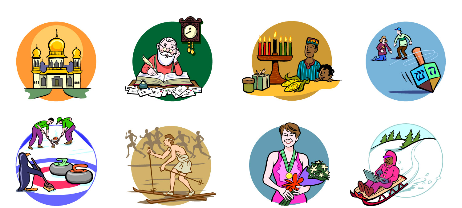 Spot Illustrations for Ask Jeeves Kid's website