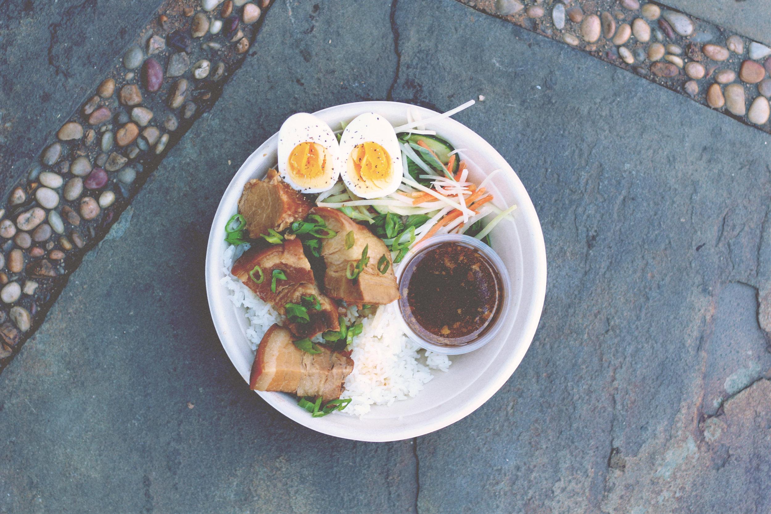 pork belly & egg
