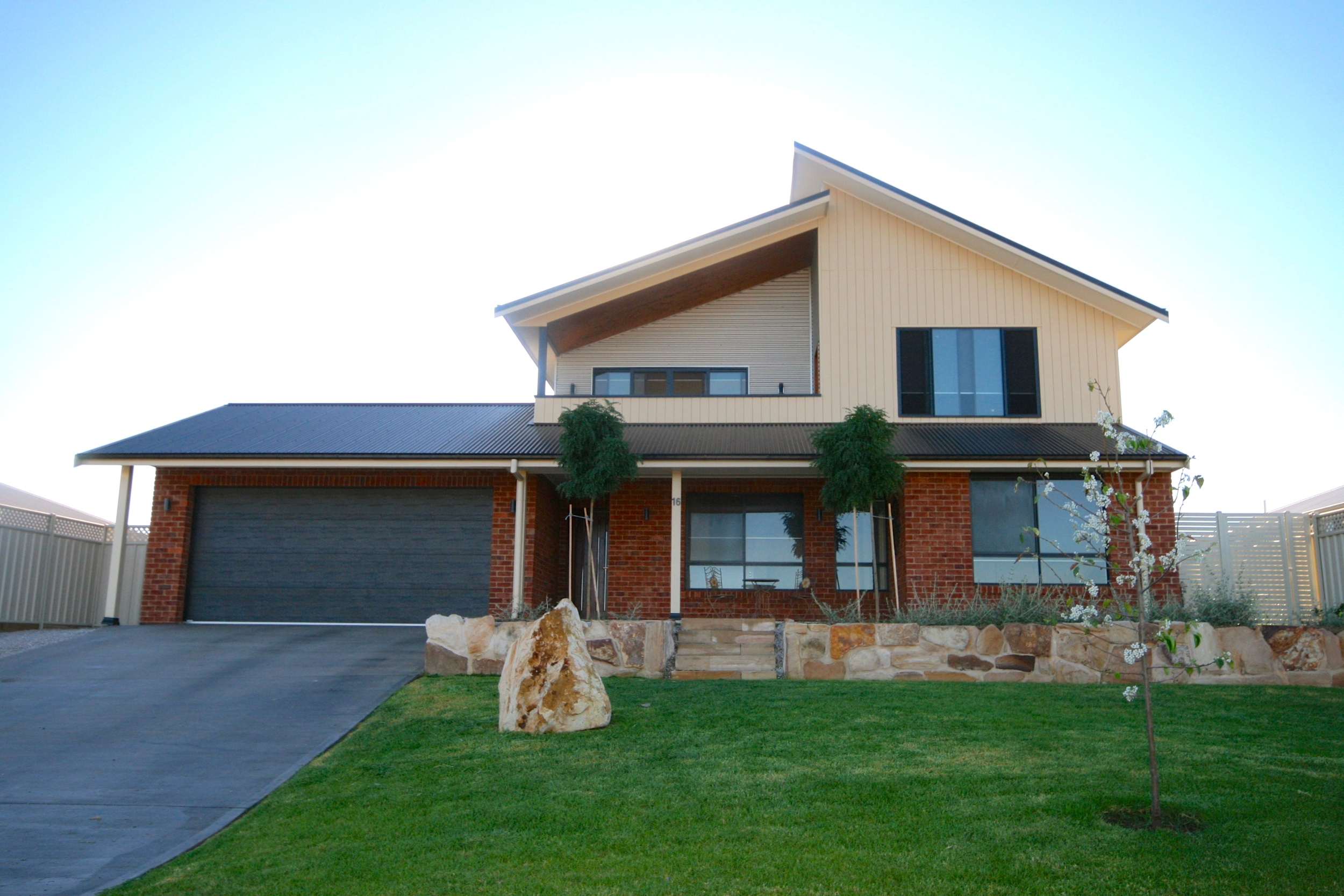 Modern two-storey home exterior