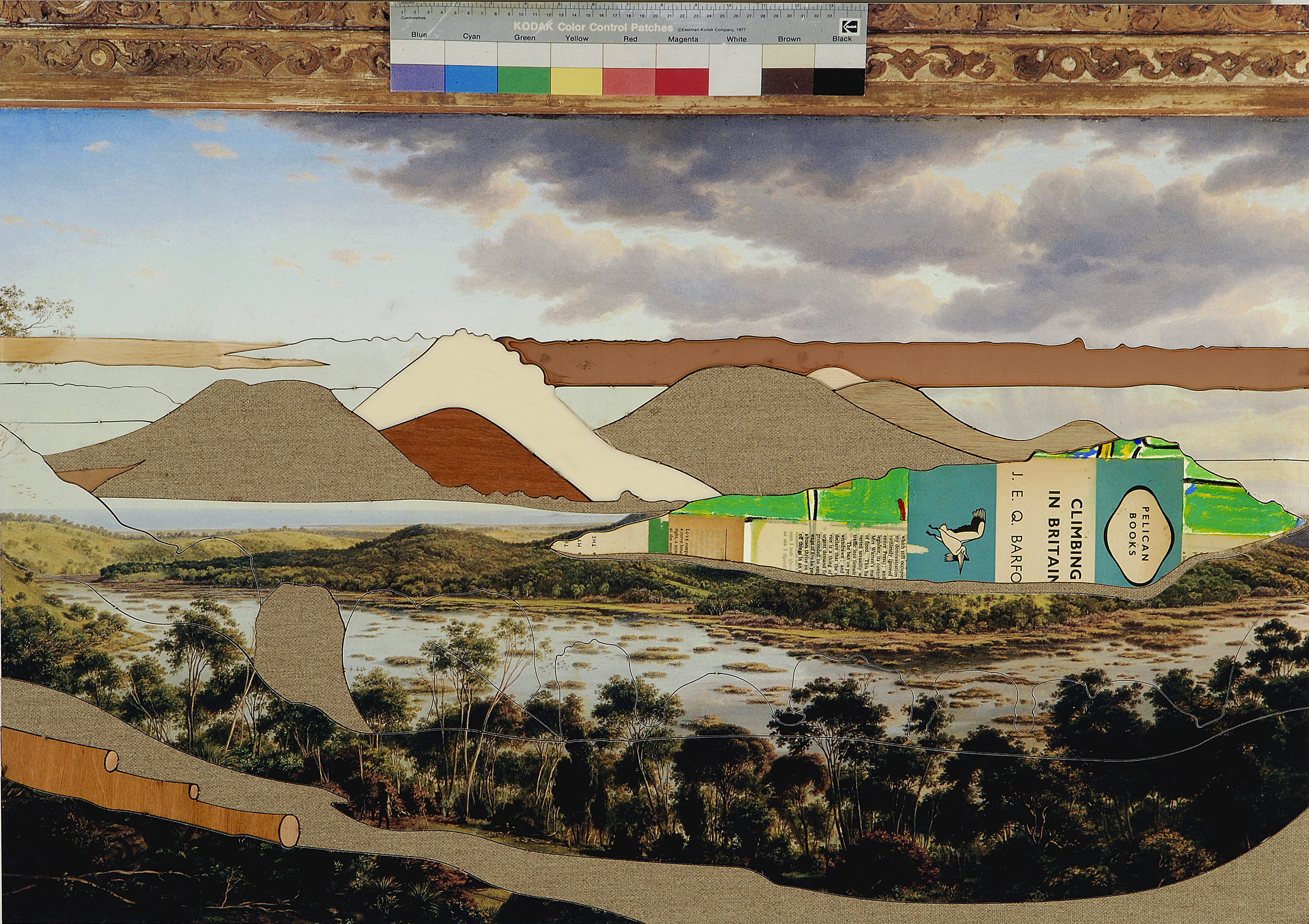 Towerhill (iii),  2008 Acrylic, oil and enamel on linen 50 x 80cm