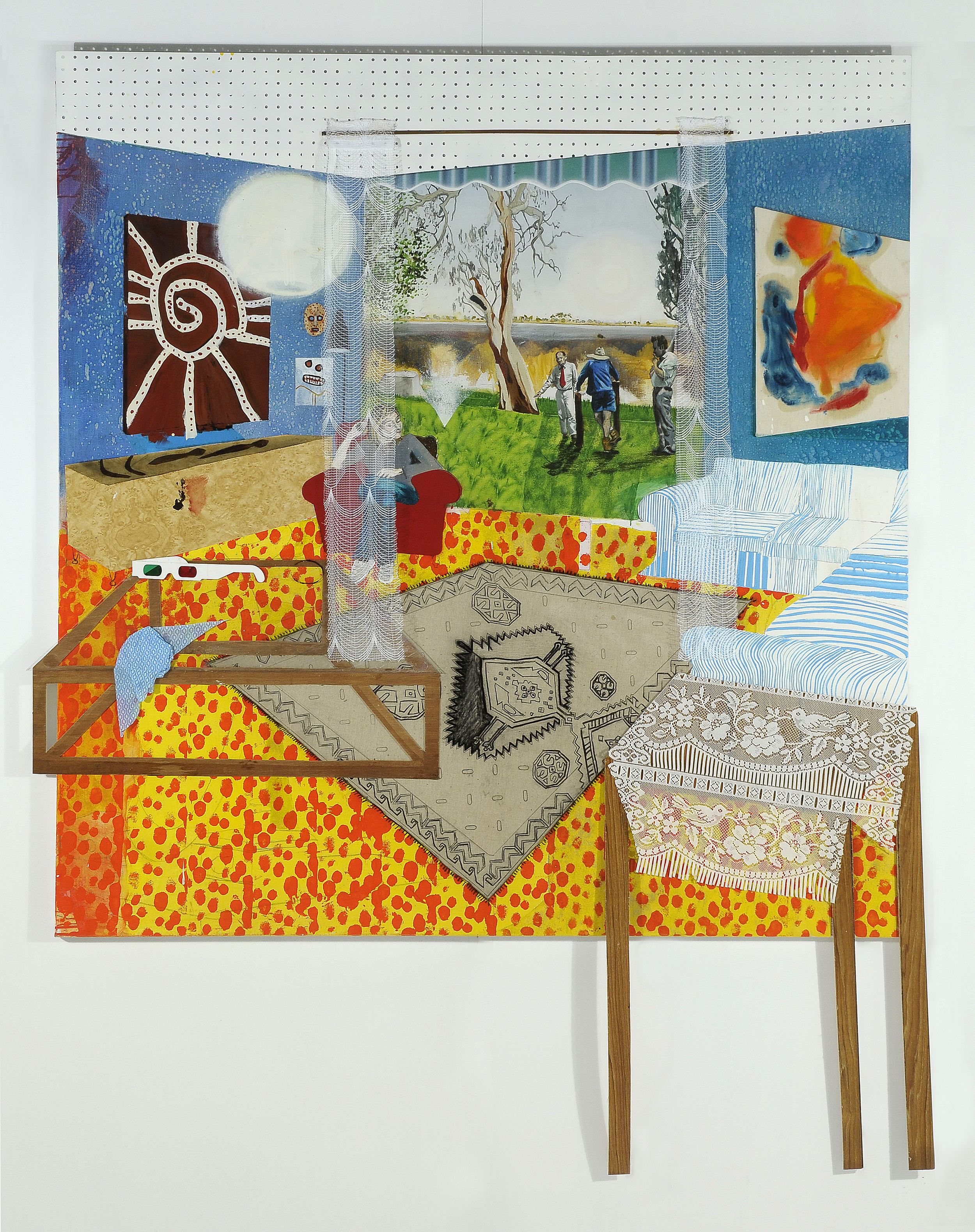 Inside and outsiders,  2008 Acrylic, oil and enamel on linen 180 x 180cm
