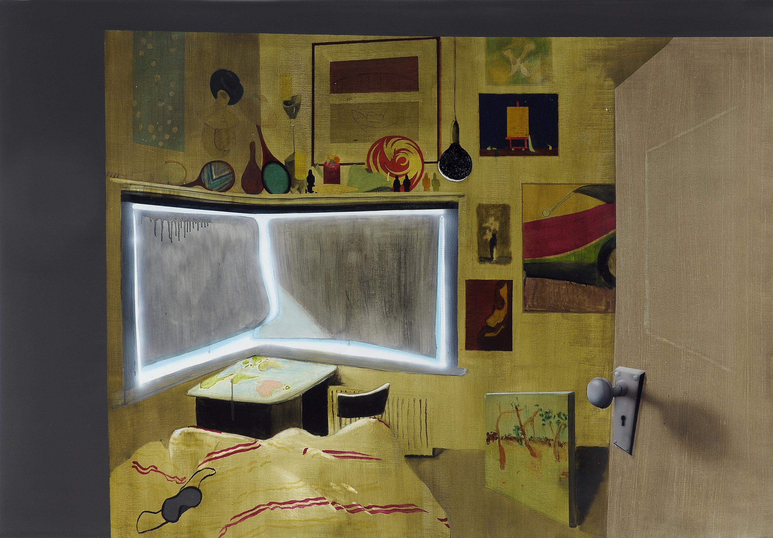 Cavepainting,  2008 Acrylic, oil and enamel on linen 120 x 200cm