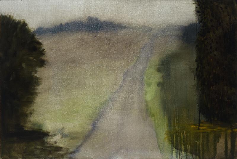 Fug,  2011 Acrylic, oil and enamel on linen 90 x 120 cm