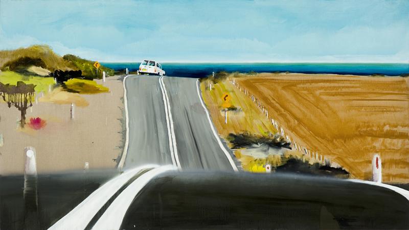 Winkipop (hope),  2011 Acrylic, oil and enamel on linen 90 x 150cm