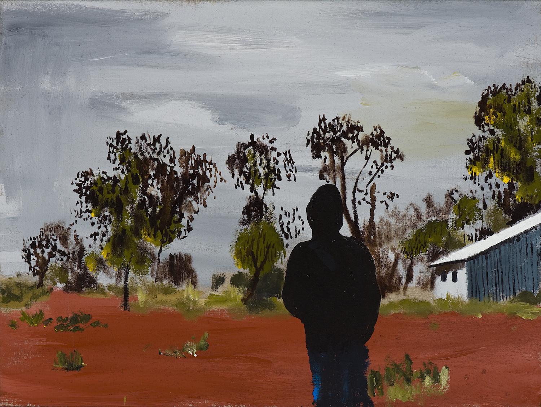 Kiwikurra blues,  2010 Acrylic, oil and automotive enamel on lenticular print 50 x 90cm