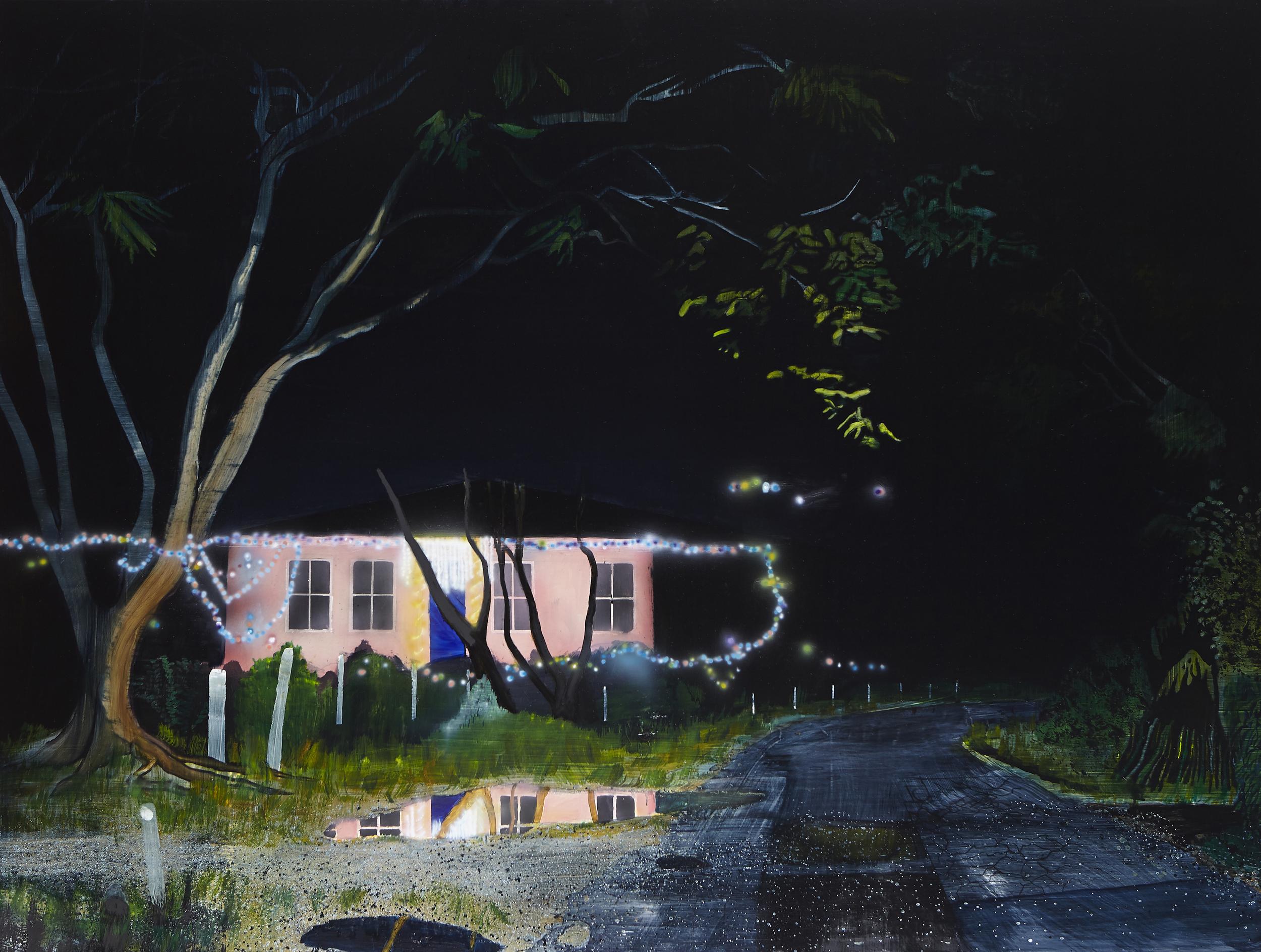 Crossroads,  2014 Acrylic, oil and enamel on linen 150 x 200cm