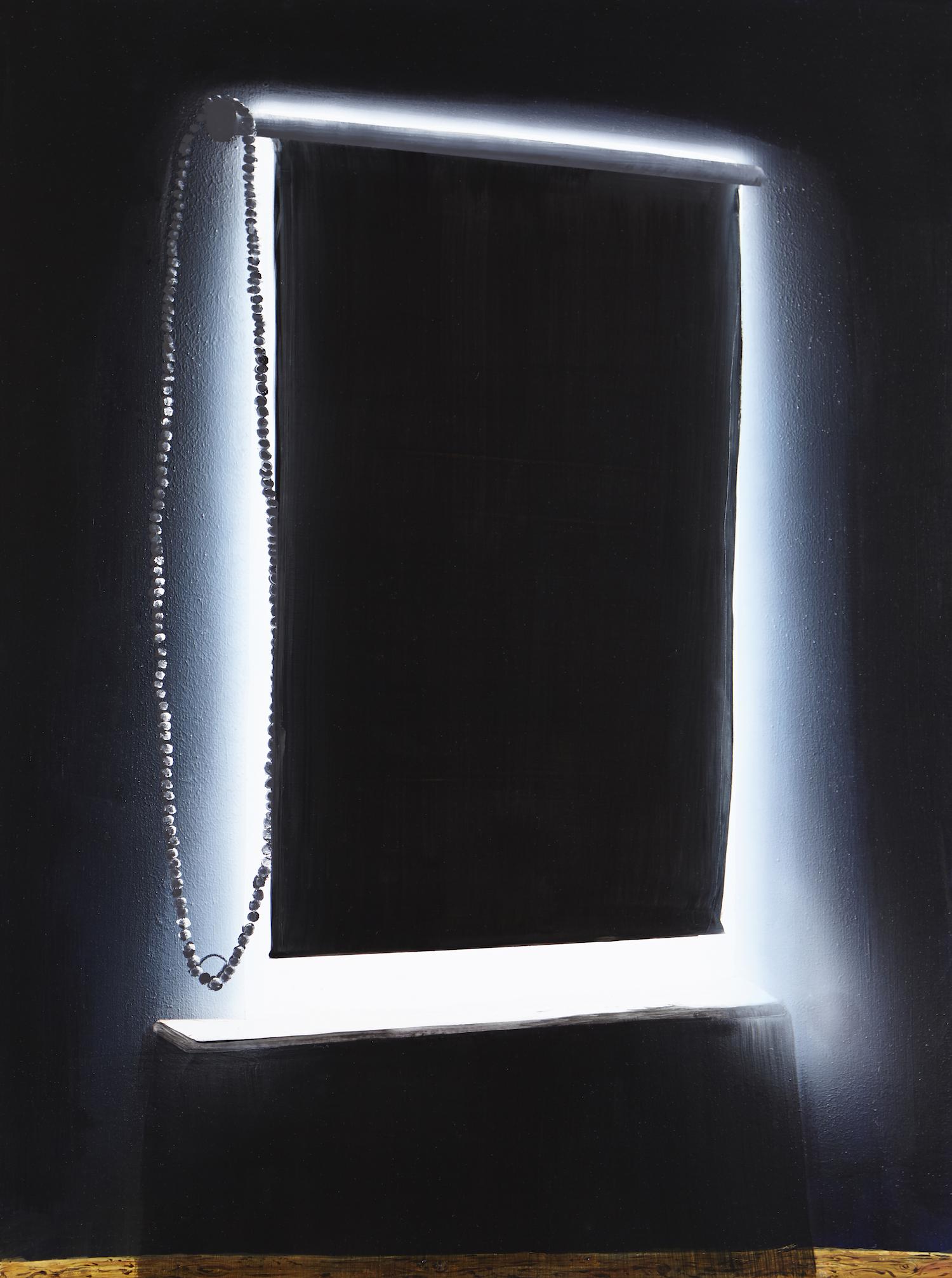 Interior,  2014 Acrylic, oil and automotive enamel on linen 120 x 90cm