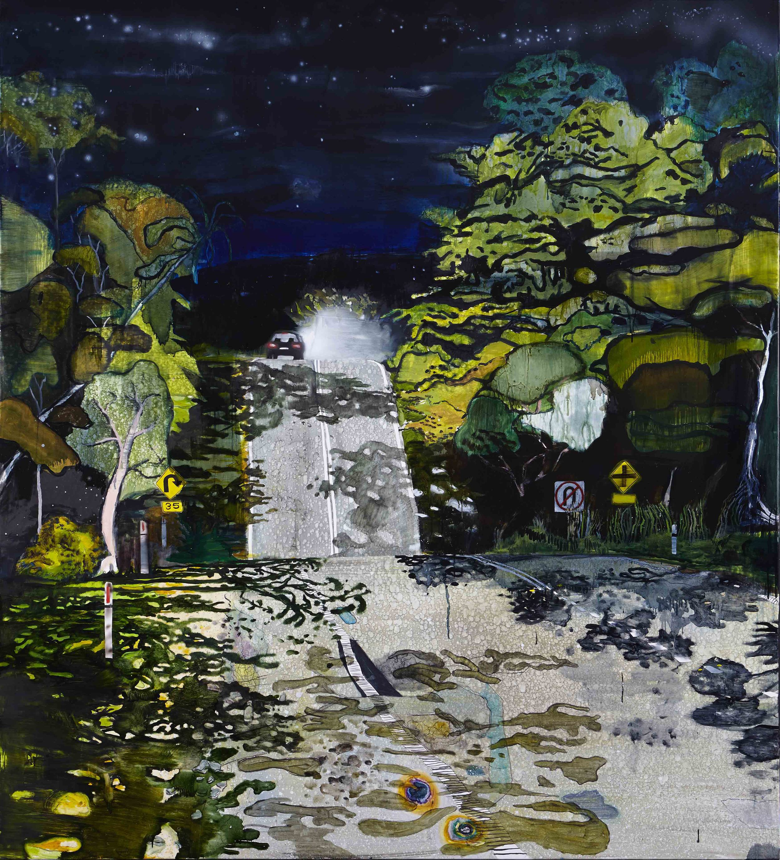 Moonlight (i),  2014 Acrylic, oil and enamel on linen 200 x 180 cm