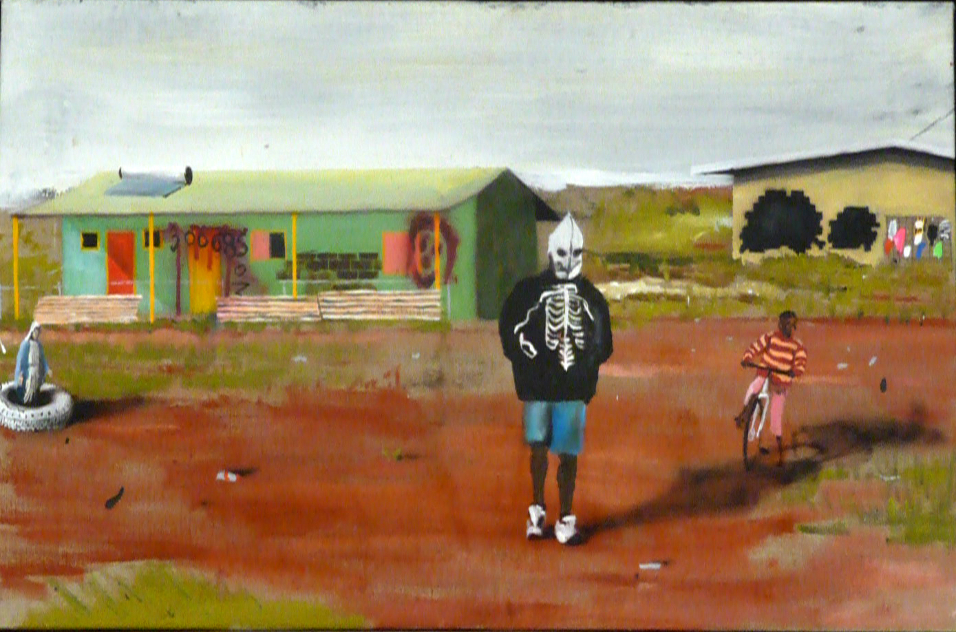 The lucky country,  2010 Acrylic, oil and automotive enamel on linen 61 x 91cm