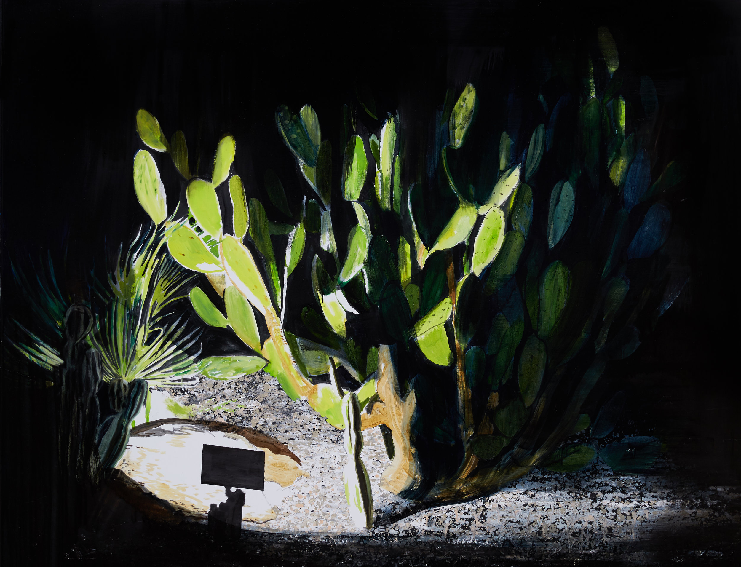 Cactus, Ibiza  Acrylic, oil and enamel on linen 120 x 150 cm