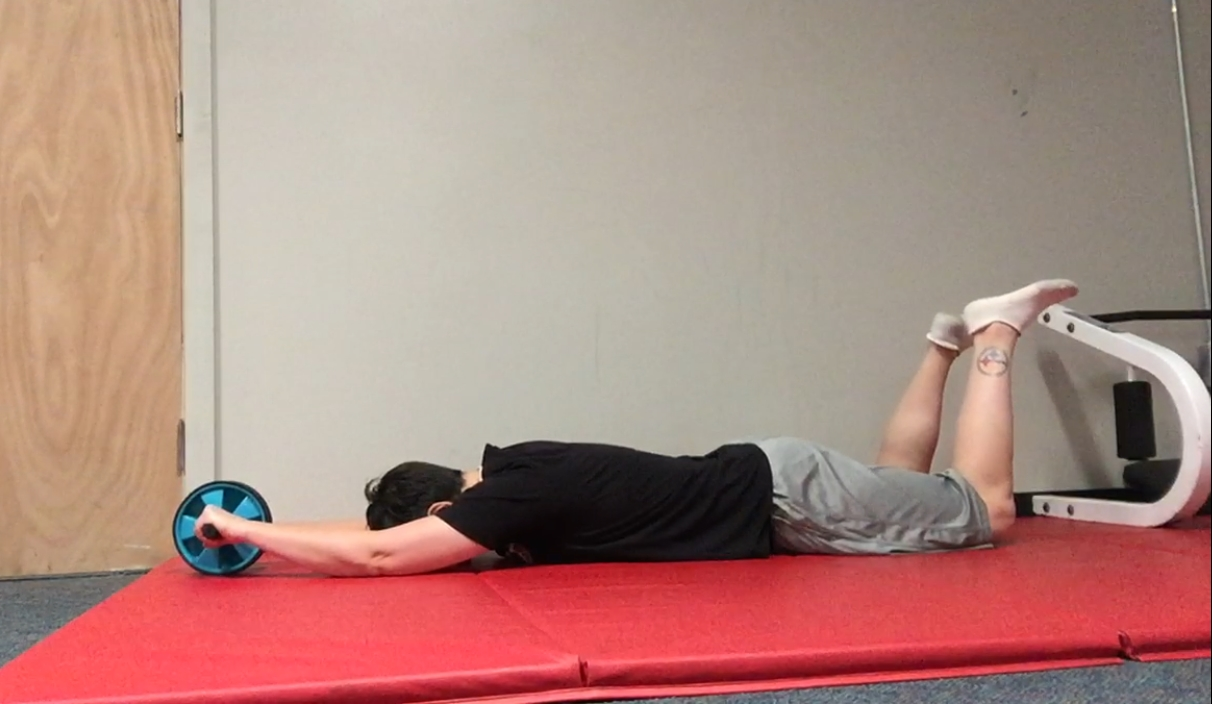 Some days.....the core workout is just a face plant in to a mat.