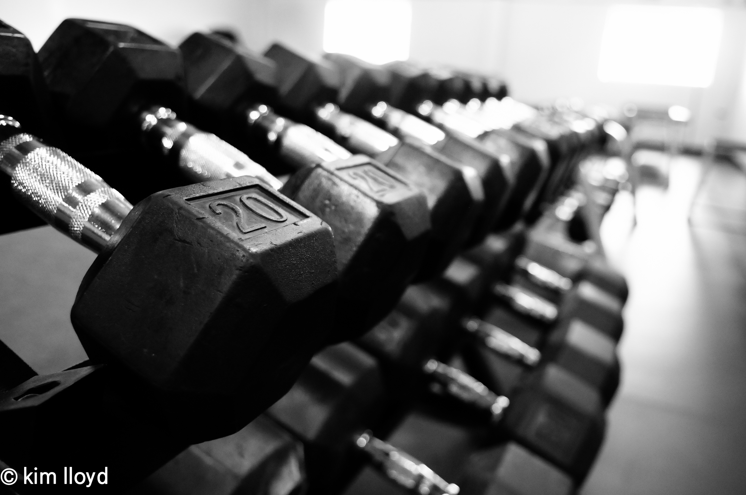Dumbbells are happy living in their dumbbell rack. Gym etiquette 101 is to put them back in their happy place when you're done.