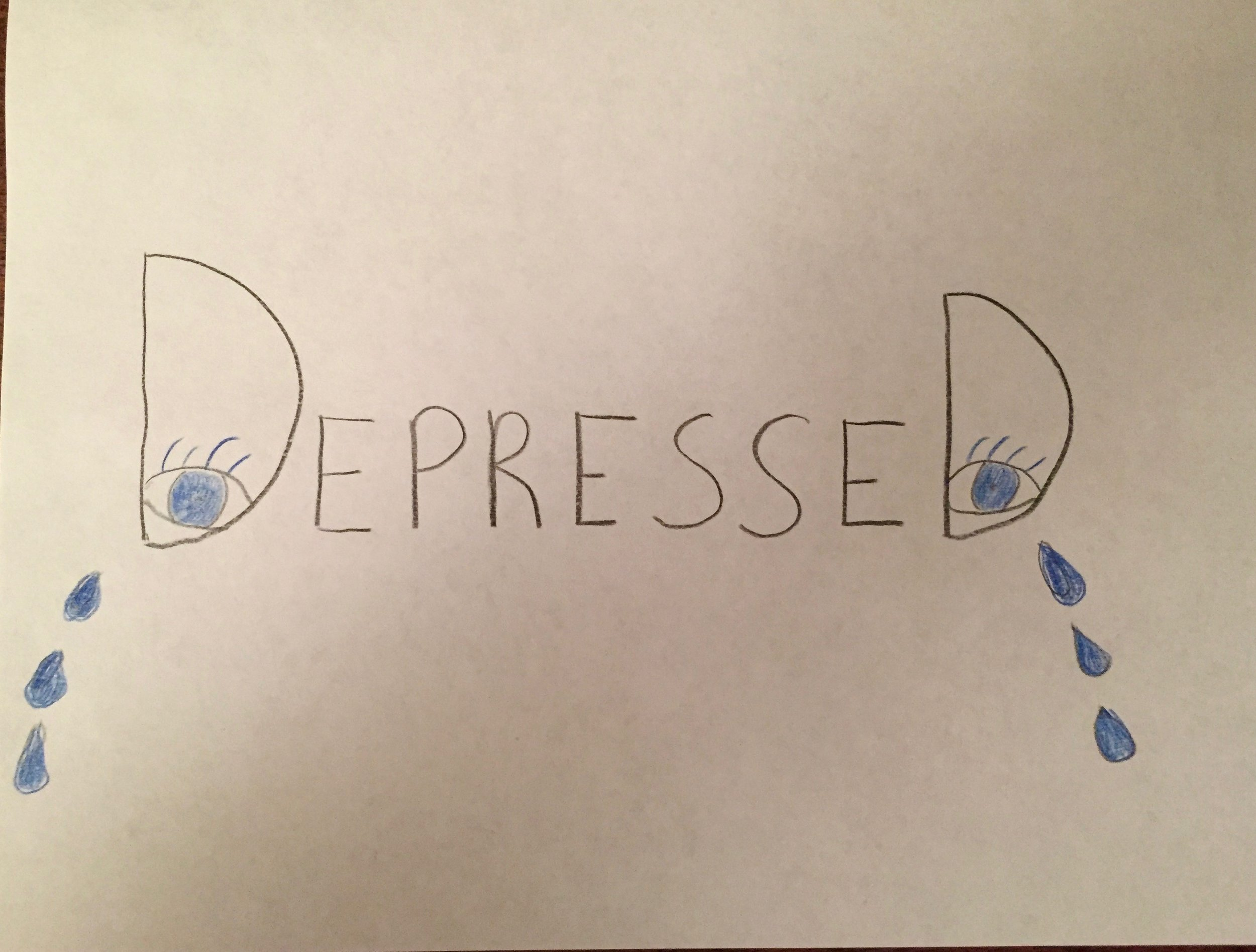 This is a recreation of the word art I did in sixth grade. It was both witty, sad, and a cry for help.