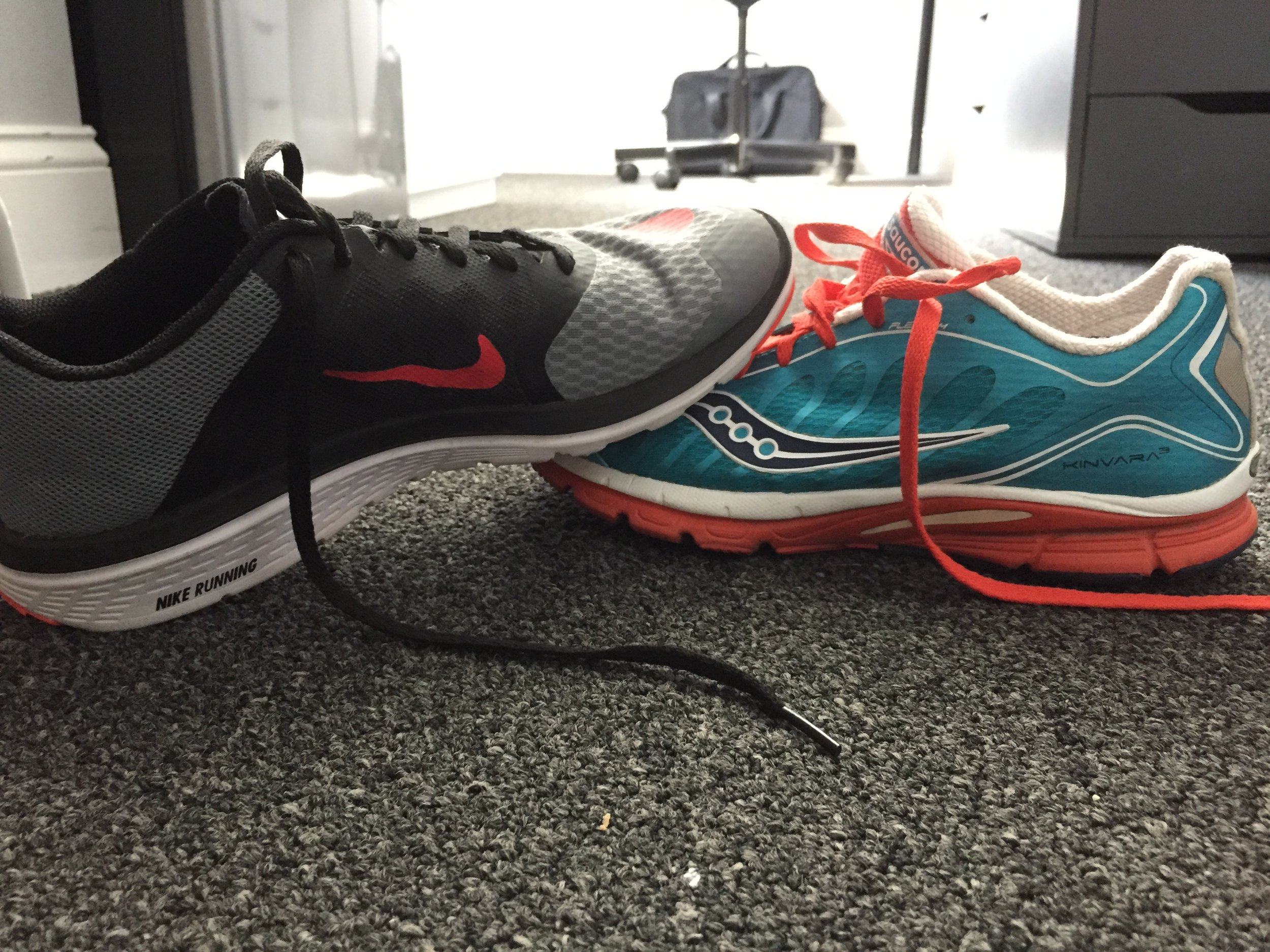 Running is a reason to by many pairs of shoes. Many.
