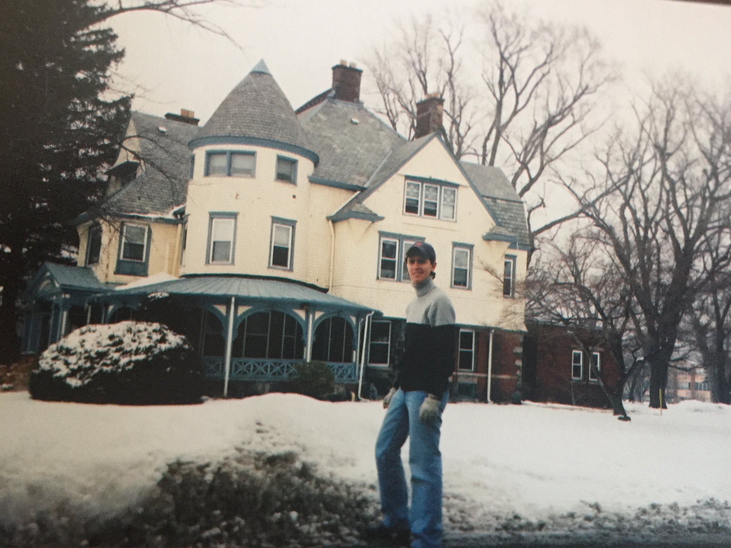 This is the convent where I lived. My room was the cool round one on the third floor. Full disclosure - I am wearing a Boston Red Sox hat, because I've always had a soft spot for the Red Sox. But not the Patriots. Let's be clear..